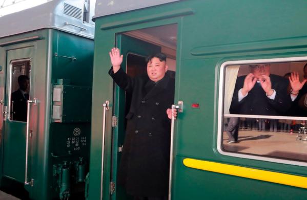 Chủ tịch Triều Tiên, Kim Jong-un di chuyển đến Việt Nam tham gia Hội nghị Thượng đỉnh lần 2 bằng tàu hỏa. Ảnh: KCNA