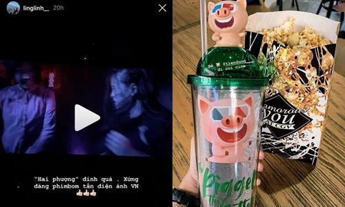 Cặp đôi Tiến Dũng - Khánh Linh đi xem phim Hai Phượng.