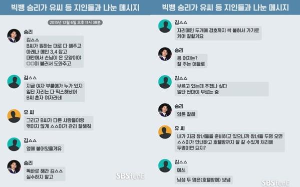 Phóng viên SBS funE nhận được một số thông tin trong đó có những tin nhắn được cho là của Seung Ri.