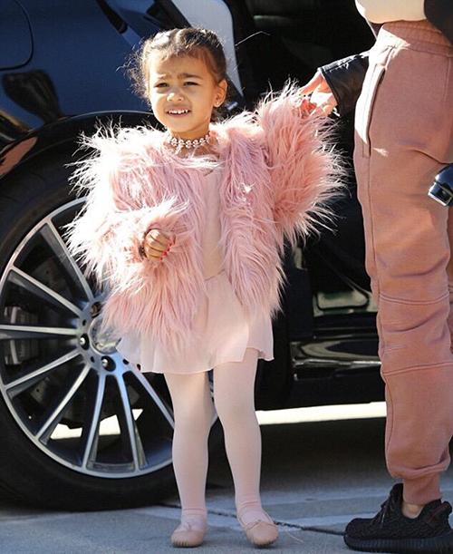 Từ lúc mới lọt lòng, con gái của ngôi sao truyền hình thực tế đã được sống trong thế giới đồ hiệu. North West có tủ quần áo triệu đô do các nhà thiết kế gửi tặng, liên tục tham dự các sự kiện xa hoa của giới giải trí.