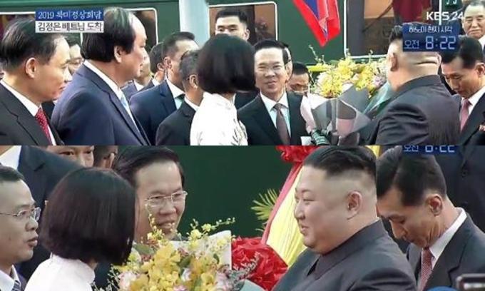 <p> Hình ảnh này lọt vào góc máy của nhiều phóng viên khiến nhiều người tò mò về danh tính cô gái tặng hoa.</p>