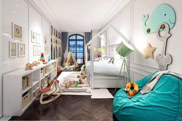 Phòng ngủ của bé Su Hào - con trai cả của Tuấn Hưng.