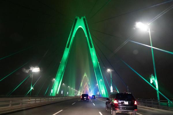 Cầu Nhật Tân được đăng tải trên trang chính thức của Nhà Trắng.