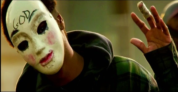 Young Ghoul Face (Lakeith Stanfield) trong The Purge: Anarchy (2014).
