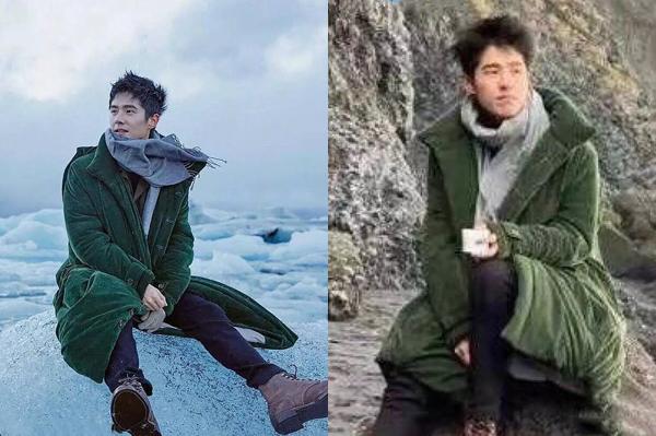 Để chụp được bộ hình giữa trời băng tuyết cực ngầu, Lưu Hạo Nhiên phải cố chịu   đựng cái giá lạnh run người, chụp xong hình thì kiểu tóc cũng tan tành.