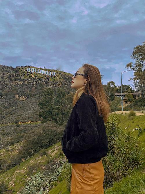 Minh Hằng đi du hý ở thiên đường Hollywood.