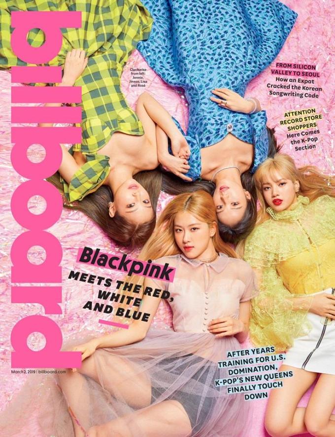 <p> Hình ảnh Black Pink trên bìa tạp chí Billboard số tháng 3 đang gây sốt.4 cô nàng nhà YG là nhóm nhạc Kpop thứ hai sau BTS và là girlgroup nữ Kpop đầu tiên có cơ hội này.</p>