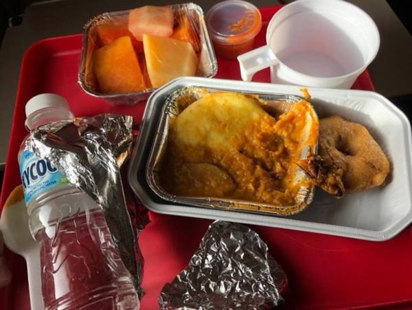 Một con gián được phát hiện trong suất ăn của hãng Air India.