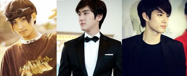 Ba visual của ba thế hệ boygroup SM lần lượt từ trái qua: Kang Ta - Si Won - Su Ho.