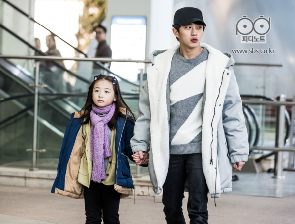 Shin Rin Ah cùng nam diễn viên Kim Min Suk trong Defendant.