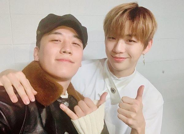 Seung Ri từng đến concert của Wanna One hồi tháng 1.