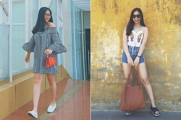 Trước đây khi còn được ít người chú ý, bạn gái Quang Hải có phong cách ăn mặc năng động, trẻ trung.