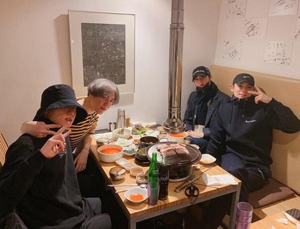 97 line Min Gyu (Seventeen), Jung Kook (BTS), Yu Gyeom (GOT7) và Eun Woo (Astro)