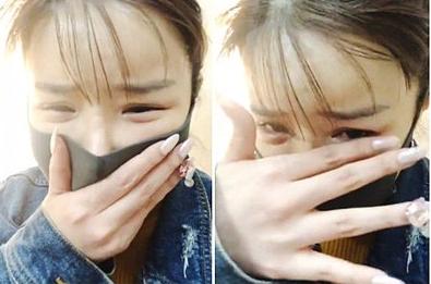 Park Bom khóc khi livestream vì xúc động trước sự ủng hộ của fan.