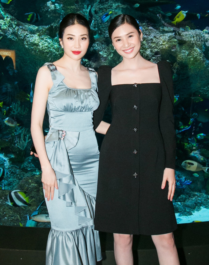 <p> Á hậu Minh Thư (trái) và Hoa hậu Tường Vy.</p>
