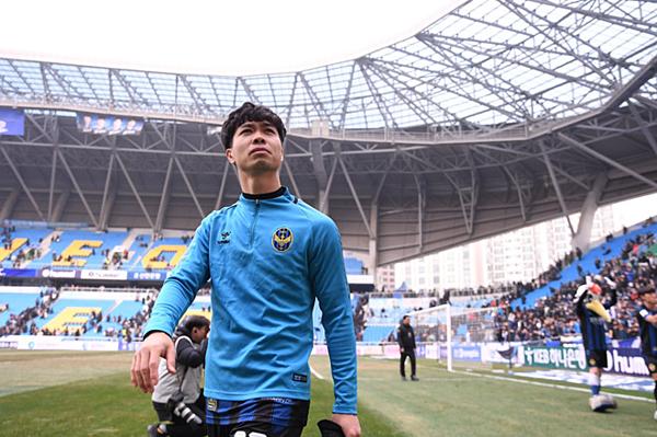 Công Phượng mang áo số 23 ở Incheon United.