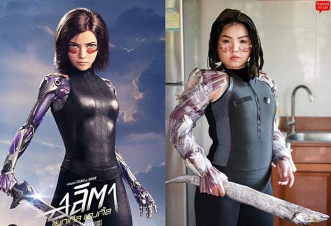 9x Thái Lan gây cười bằng màn cosplay với rau củ quả