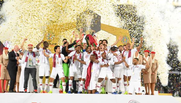 Qatar nâng cúp vô địch Asian Cup 2019.