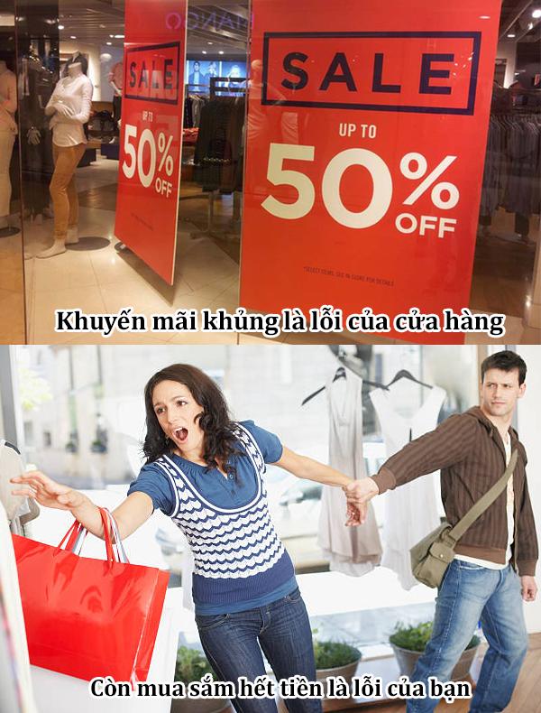 Lỡ tay chi tiền khiến bạn 'viêm màng túi' thì cửa hàng không chịu trách nhiệm đâu.