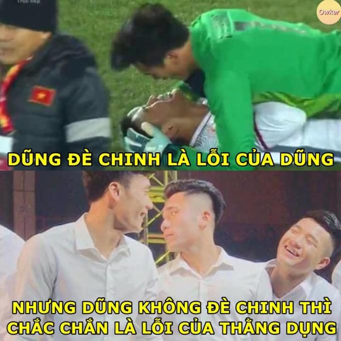 """<p> Khoảnh khắc vui mừng khi đưa Việt Nam vào bán kết U23 châu Á 2019 của Đức Chinh và Tiến Dũng được người hâm mộ nhớ mãi. Chỉ đáng thương cho người em Bùi Tiến Dụng khi cứ mãi bị fan gọi là """"bóng đèn"""".</p>"""