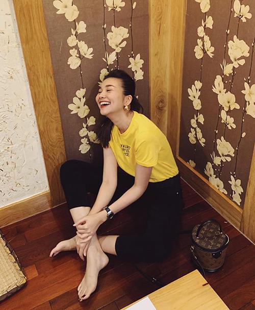 Thanh Hằng rất đáng yêu khi cười thả ga.