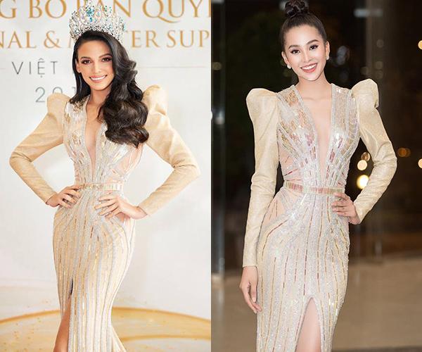 Trong chuyến sang Việt Nam công tác mới đây, Hoa hậu Siêu quốc gia 2018 ưa chuộng các thiết kế của NTK Chung Thanh Phong. Cô liên tiếp có những màn đụng độ với các hoa hậu trong nước. Thiết kế tay bồng xẻ cổ sâu được người đẹp diện từng được Hoa hậu Việt Nam 2018 Trần Tiểu Vy mặc trước đó.