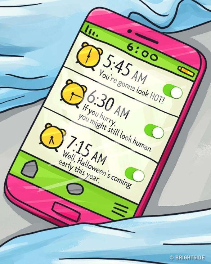 <p> Sẽ chẳng ai có thể lôi các cô gái ra khỏi chiếc giường dù đồng hồ báo thức réo ngang tai.</p>