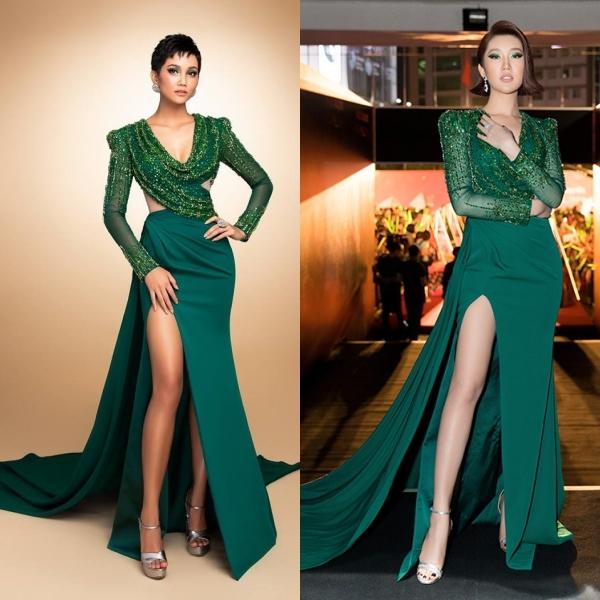 Nhiều người phát hiện bộ cánh này từng được Hoa hậu HHen Niê diệnchụp ảnh chuẩn bị cho Miss Universe 2018.