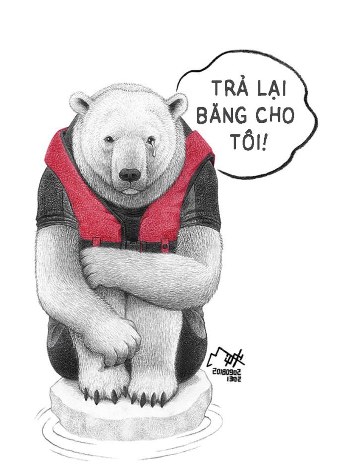<p> Hiện tượng băng tan do biến đổi khí hậu đang trở thành vấn đề của toàn cầu. Trước khi nhìn thấy sự tác động đến con người, hãy nhìn những con gấu đang dần mất đi nơi sinh sống hàng triệu năm nay.</p>