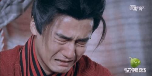 Cảnh khóc mếu máo của Tưởng Kình Phu.