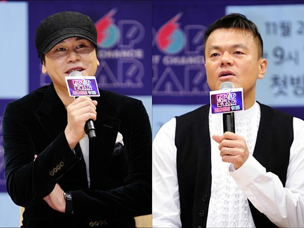 CEO Yang Hyun Suk và CEO Park Jin Young là bạn thân ngoài đời nhưng có cách đào tạo nghệ sĩ khác nhau. Gà YG thường gặp rắc rối vì đời tư thị phi còn gà JYP được khen bởi nhân cách tốt đẹp, hình tượng sạch sẽ.