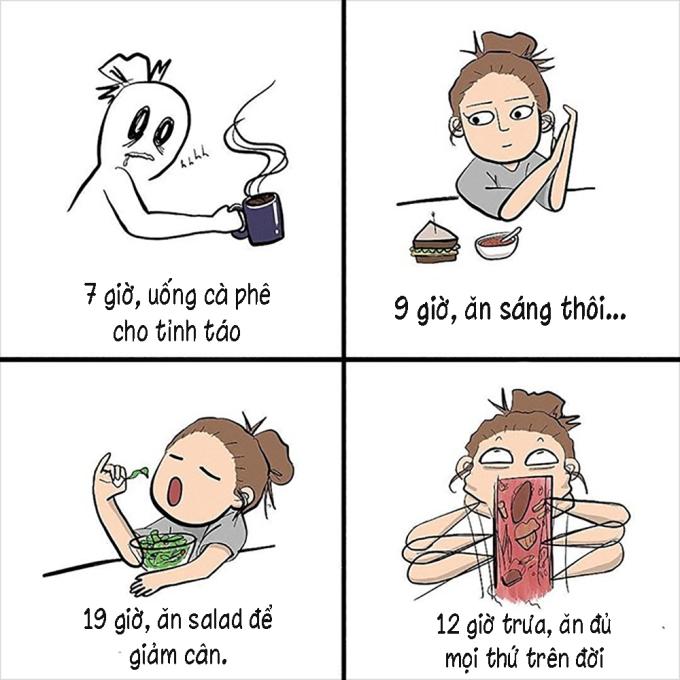 <p> Giảm cân là kế hoạch cả đời của các cô gái.</p>