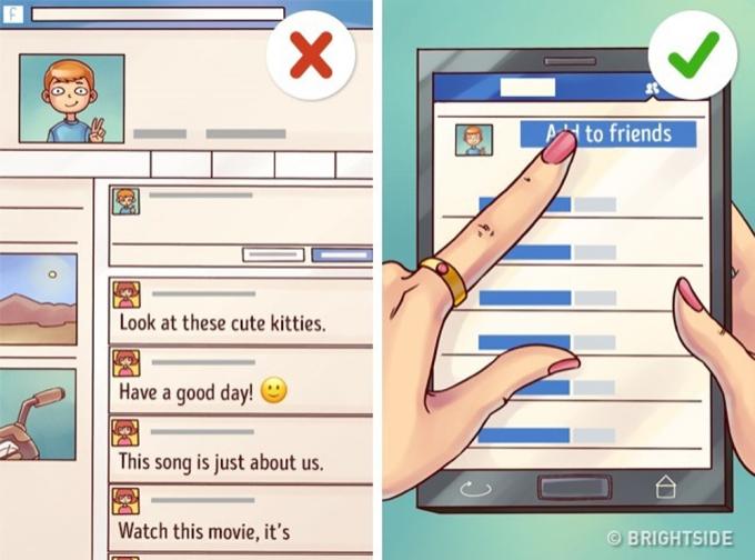 """<p> Nếu bạn vẫn đang """"crush"""" chàng, đừng chỉ lẳng lặng vào Facebook của chàng rồi lại thoát ra. Mạnh dạn, chủ động kết bạn, làm quen sẽ giúp bạn tiến gần hơn tới chàng.</p>"""