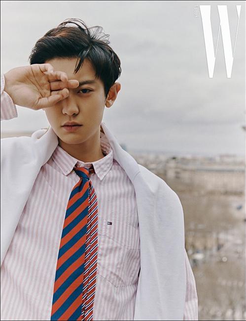 Chan Yeol (EXO) làm người mẫu trong một bộ ảnh của W Magazine.