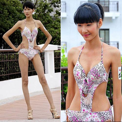 Hoàng Thùy đăng quang cuộc thi Vietnams Next Top Model 2011. Thời điểm ghi danh tại mùa thứ hai của chương trình truyền hình thực tế về nghề người mẫu, Hoàng Thùy sở hữu thân mình mảnh khảnh. Lúc này cô vừa tròn 19 tuổi, chỉ cao 1,75 m.