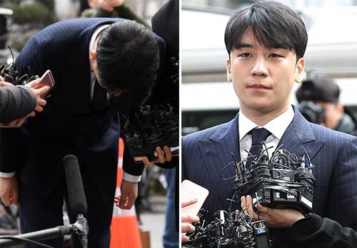 Seung Ri cúi đầu xin lỗi vì scandal. Anh phải hoãn nghĩa vụ quân sự 3 tháng để phục vụ điều tra.