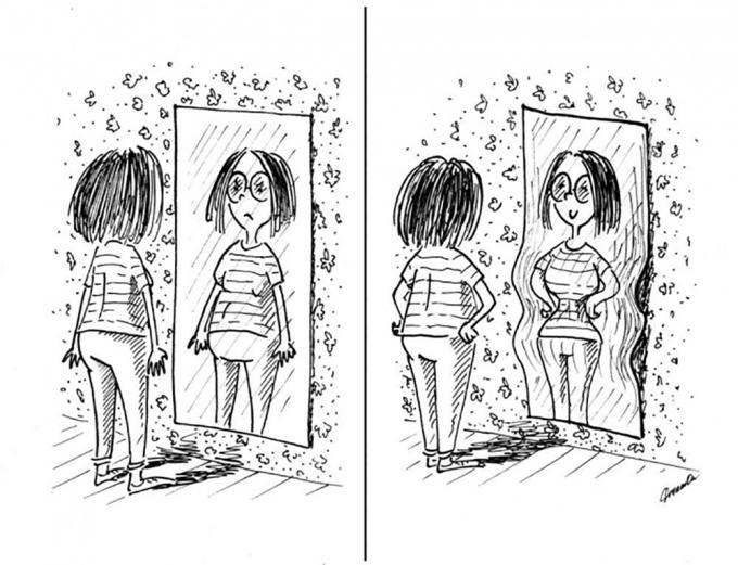 <p> Họ luôn tự an ủi và dối lừa chính mình khi nhìn vào gương.</p>