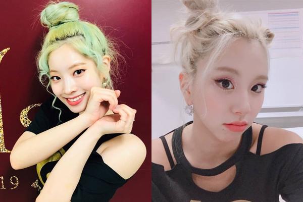 Da Hyun và Chae Young có màu tóc nổi bật và chất nhất Twice.