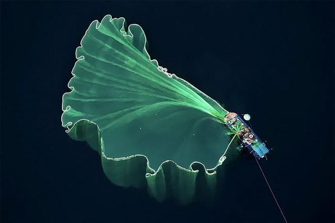 """<p> Trước đó, vào đầu tháng 1, tại cuộc thi ảnh Dronestagra, bức ảnh <strong>""""Fishing Net in Vietnam""""</strong><em> (Lưới đánh cá ở Việt Nam) </em>của tác giả Trung Pham giành giải Nhì.</p> <p> Dronestagram cũng là cuộc thi diễn ra hàng năm, vinh danh những ảnh chụp trên cao xuất sắc.</p> <p> </p>"""