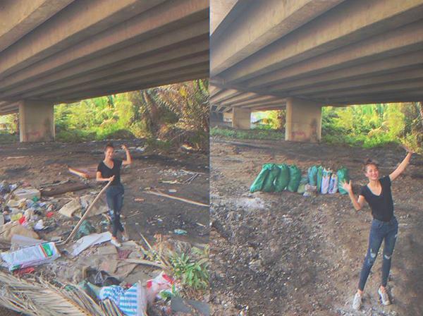 Sao Việt xắn tay áo tham gia thử thách dọn rác bảo vệ môi trường - 3