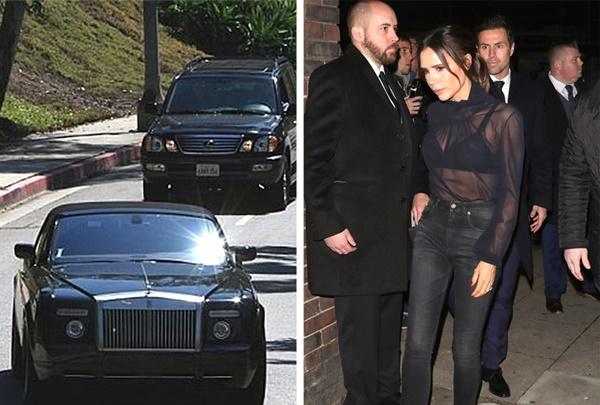 Để đón con đi học, David Beckham phải lái chiếc xe Rolls-Royce có kính  chống đạn và theo sau là 2 chiếc xe hộ tống. Bản thân cầu thủ nổi tiếng  này từng nói rằng ước mơ của anh là cùng vợ con dạo phố mà không có vệ  sĩ xung quanh, nhưng rồi anh nhận ra rằng việc bảo vệ gia đình mình mới  là điều quan trọng nhất.