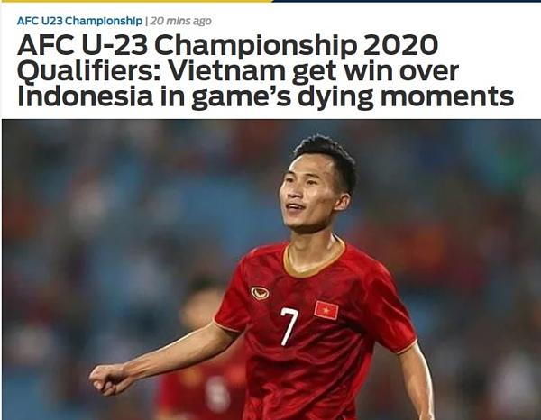 Triệu Việt Hưng xuất hiện trên trang chủ của Fox Sports.