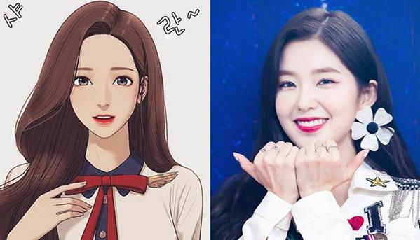 Irene là mỹ nhân hàng đầu Kpop, sở hữu gương mặt tỉ lệ vàng, được các bác sĩ phẫu thuật thẩm mỹ công nhận. Nếu chỉ xét về ngoại hình, trưởng nhóm Red Velvet hoàn toàn phù hợp với hình ảnh Lim Chung Kyung - một cô gái có nét đẹp nhẹ nhàng, lộng lẫy sau khi trang điểm.