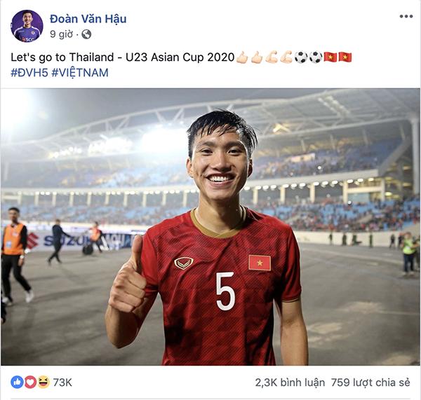 Dàn sao U23 đăng ảnh ăn mừng đánh bại Thái Lan nhận bão like