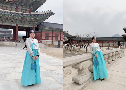 Lệ Quyên mặc Hanbok trong chuyến nghỉ dưỡng tại Hàn Quốc.