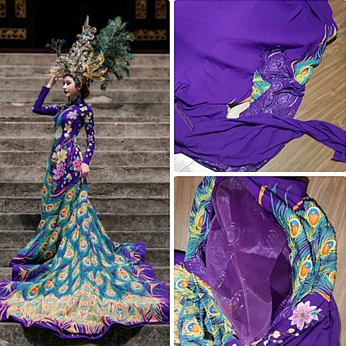 Chi Nguyễn chuẩn bị trang phục truyền thống lấy cảm hứng từ chim khổng tước để dự thi Miss Asia World. Tuy nhiên trước đêm chung kết, chiếc áo dài của cô bị cắt nát thành nhiều mảnh. Sự cố bị chơi xấu khiến Chi Nguyễn phải tìm trang phục mới để thay thế. Tuy nhiên, cô vẫn đăng quang ngôi vị cao nhất.