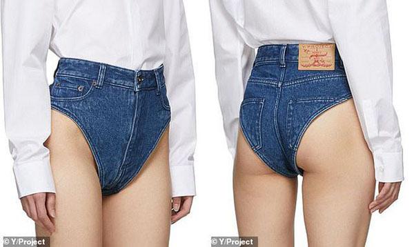 Chiếc quần jeans được thiết kế hệt đồ lót.