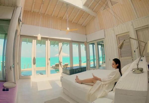 Huyền Baby đi nghỉ dưỡng sang chảnh ở Maldives.
