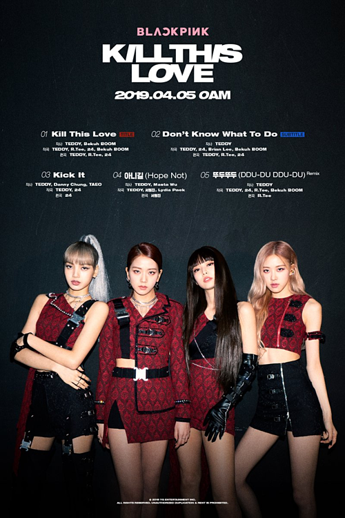Tracklist của mini-album Kill this love.