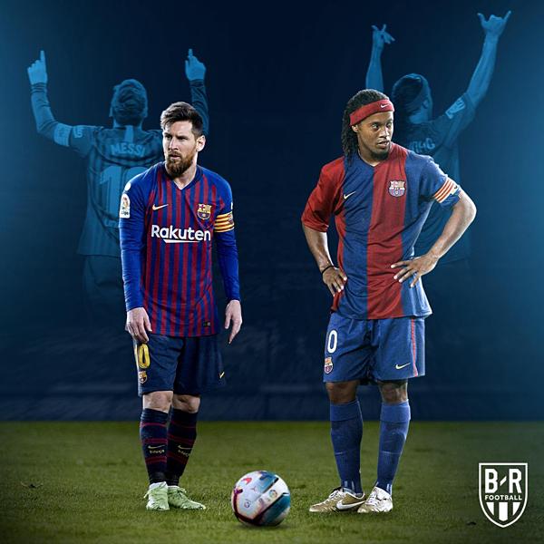 Messi san bằng kỷ lục của Ronaldinho.